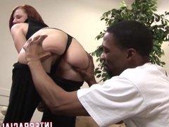 Boz feeds Franky's pussy his big black junglesnake