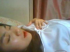 Korean Slut Yein Jeong masturbates on webcam 12