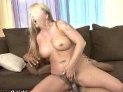Hairy Pussy Tattooed Babe Gets Jizzed