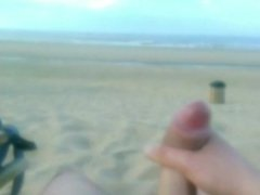 Nudist beach in Zandvoort - My big penis cumshot