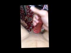 masturbate with 2 condoms - part 1