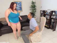 Big Booty BBW Redhead Tiffany Star Fucks Her New Boss