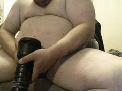 fat chub with little dick fucks a fleshlight