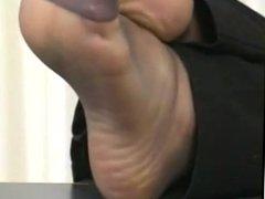 Secretary nylon soles displayed