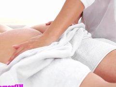 Steamy massage fun turns to closeup anal sex