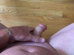 Smooth cock masturbation with finish.