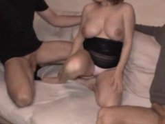 Pregnant girl with two big cocks