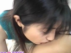 Rina Usui has hairy pussy well pumped