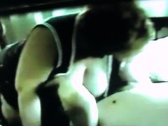 80s tit pulling and sucking from old vhs