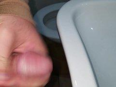 Cumshot in bathroom (01.10.2015)