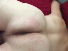 Lady J spanks with a hanger, part one