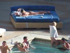 Las Vegas Pool Voyeur - PAWG in White Thong