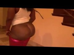 Busty Ebony Slut Shakes Her Fat Ass For The Camera