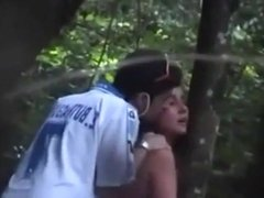 Young couple gets caught fucking