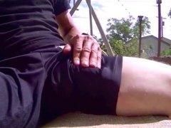 Ohne Slip in Shorts Outdoor abgespritzt