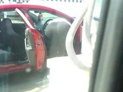 Ass Stalker Car Wash Candid