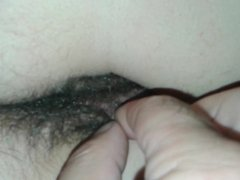 Fingering Resting Milf's hairy Pussy and Asscrack