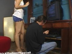 Hung guy gives his step mom a nice time