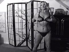 Adele's Black Panty Striptease