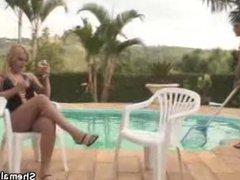 TS Thais Blowjob By The Pool