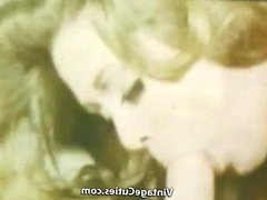 Girlfriend's Deepthroat Mouth Cumshot (1960s Vintage)