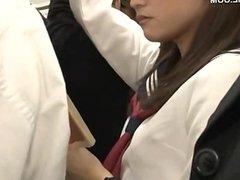 cute japanese schoolgirl seduced by geek in b