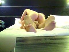 Lucky Guy Fucks Brunette Babe In Hotel Room