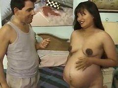 Pregnant asian milf sex