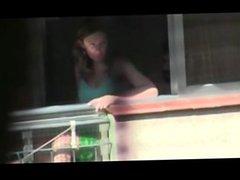 1fuckdatecom Polvo en el balcon