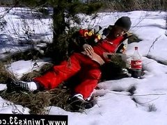 Gay cum teen emo sex Roma Smokes In The Snow