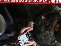 cute soldier caught masturbating