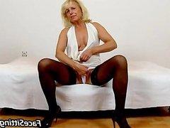 Stockings cougar Koko old young facesitting