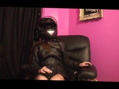 Leather Fetish Masturbation