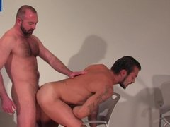 Bearded Cowbow Daddy Gets His Big Cock Sucked