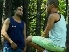 Outdoors Brazilians Rimming Each Other
