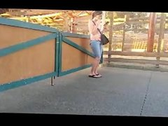 Voyeur smoking at theme park 1fuckdatecom