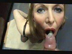 1fuckdatecom Crazy milf eat cum from condom