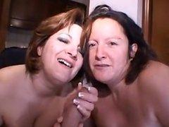 2 girls 1 cock blowjob and cums 1fuckdatecom
