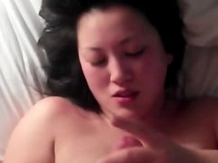 Cumshot on a beautiful asian gi 1fuckdatecom