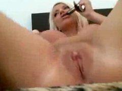 Big Tits Blonde Masturbate With Big Toys DP