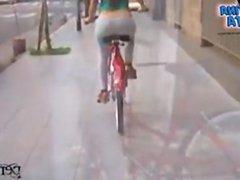1fuckdatecom Most amazing ass riding a bike