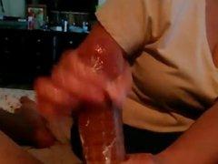 1fuckdatecom Big cock amateur handjob with h
