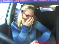 Cam Model Masturbates in the Car Wash