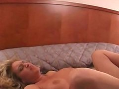 Blonde MILF first time lesbian