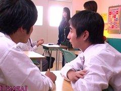 Japanese schoolgirl pov wanks and sucks