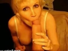Milf Slut Blows Huge Cock For Facial