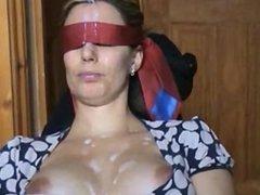 Blindfold cumshot 1fuckdatecom