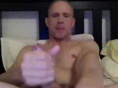 Sexy daddy cums on camera