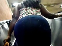 1fuckdatecom Huge candid bbw black tits ass