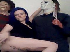 Webcam sexy holloween show 1fuckdatecom